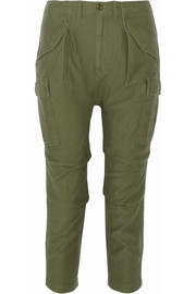 Cargo cotton-canvas tapered pants