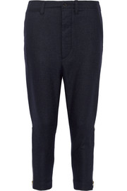 Officer wool-blend flannel tapered pants
