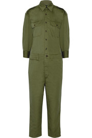 Officer cotton-twill jumpsuit