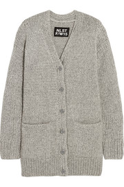 Fisherman oversized chunky-knit cardigan
