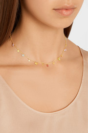 Celeste 22-karat gold multi-stone necklace