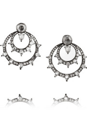 Fred Leighton 18-karat white gold diamond earrings