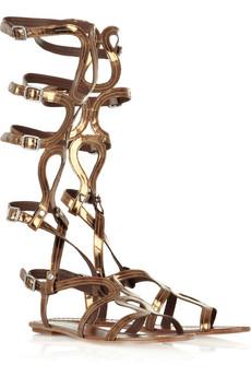 Высокие римские сандалии до колена - Портал модной