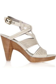 Belle by Sigerson Morrison | Bamboo Nabuck suede sandals  from net-a-porter.com