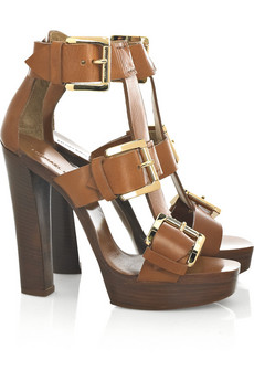 Michael Kors Vacchetta leather sandals