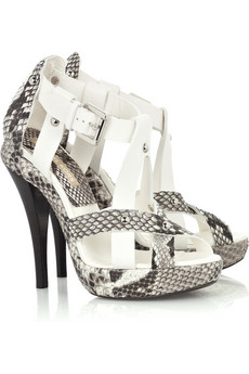 Michael Kors | Python and leather sandals | NET-A-PORTER.COM from net-a-porter.com