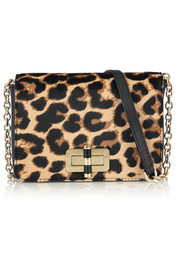 440 Gallery Bellini leopard-print calf hair and leather shoulder bag