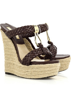 Michael Kors | Leather braided espadrille wedges | NET-A-PORTER.COM from net-a-porter.com