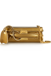 Grace mini metallic leather shoulder bag