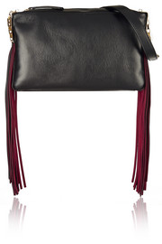 Playboy III fringed leather shoulder bag