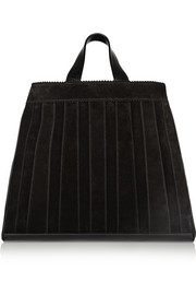 Sugar Daddy leather-trimmed suede tote