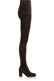 Sweet Revenge stretch-suede legging boots