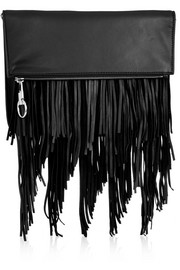 Andrew fringed leather clutch