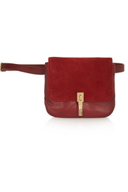 Cynnie leather and suede belt bag