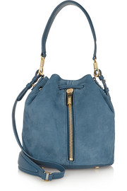 Cynnie mini suede bucket bag