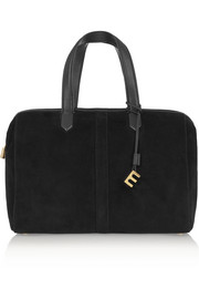 Scott leather-trimmed suede duffle bag