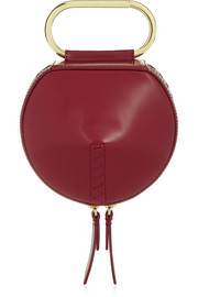 Alix Circle leather clutch
