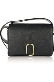 Alix textured-leather shoulder bag