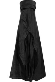 Donna Karan New York Wool and silk-blend organza gown