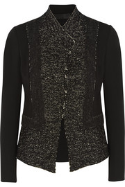 Donna Karan New York Tweed and stretch-jersey jacket