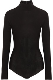 Stretch-jersey turtleneck bodysuit
