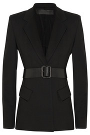 Donna Karan New York Belted stretch-ponte jacket