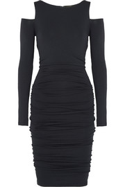 Cutout stretch-jersey dress