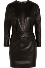 Eleodoro leather mini dress