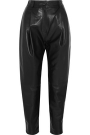 Ekaitz leather tapered pants