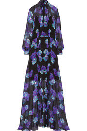 Erwin printed silk gown