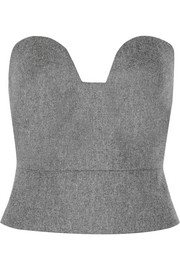 Eugenio wool-felt bustier top