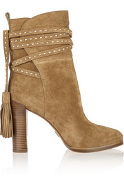 Palmer tasseled suede ankle boots