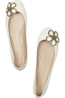Chloé Capretto leather ballerina flats