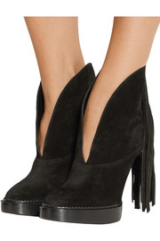 Nadie fringed suede ankle boots