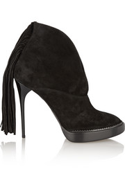 Burberry Prorsum Fringed suede ankle boots
