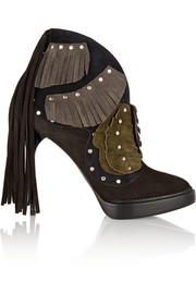 Burberry Prorsum Lilybell fringed suede ankle boots
