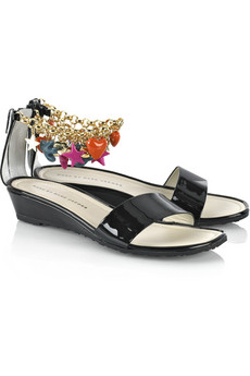 Marc by Marc Jacobs Ankle charm leather sandals
