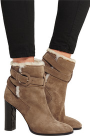 Burberry Shoes & Accessories Shearling-lined suede ankle boots