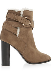 London shearling-lined suede ankle boots