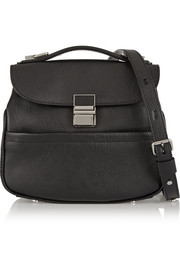 Kent mini textured-leather shoulder bag