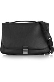 Kent textured-leather shoulder bag