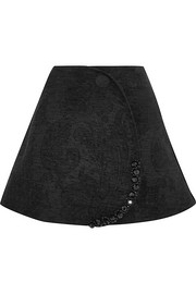 Embellished chenille mini skirt