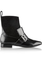 Louie suede and leather ankle boots