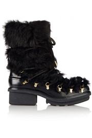Mallory leather and shearling boots