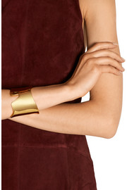 Cutout gold-plated cuff