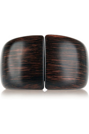 Faux wood bangle