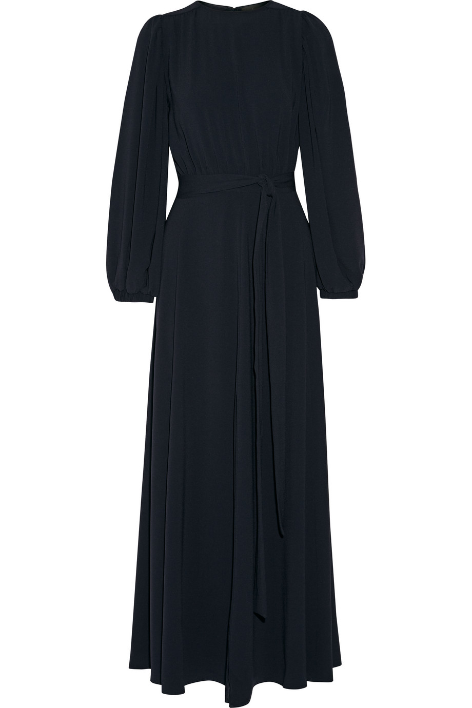Crepe Maxi Dress, Midnight Blue, Women's, Size: XS