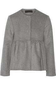 Wool and cashmere-blend peplum jacket
