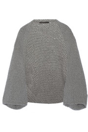 Wool and angora-blend shrug