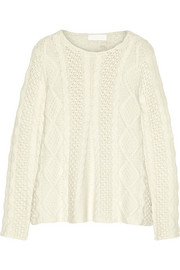 Cable-knit cashmere sweater